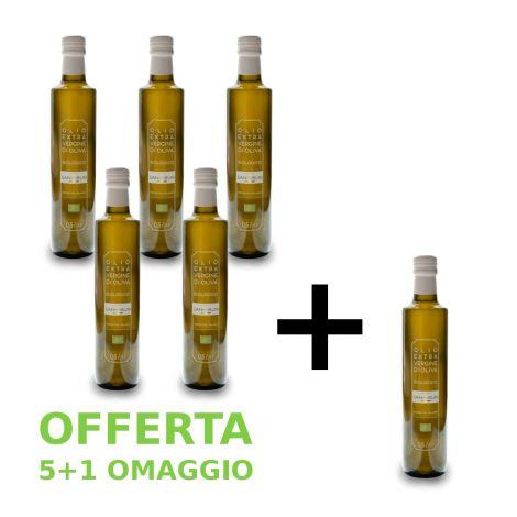 Olio extravergine di oliva biologico 5 + 1