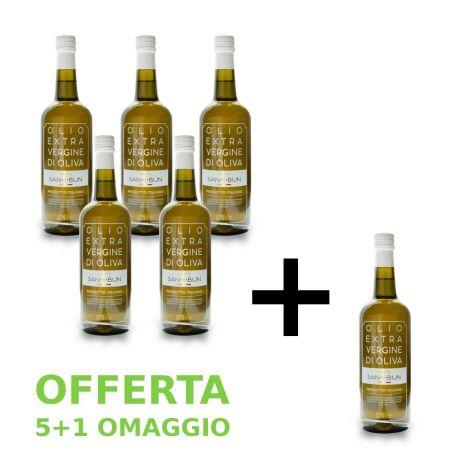 Olio Extravergine di oliva 5 + 1