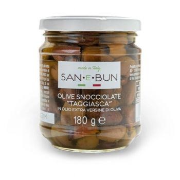 Olive snocciolate Taggiasca in olio extra vergine di oliva
